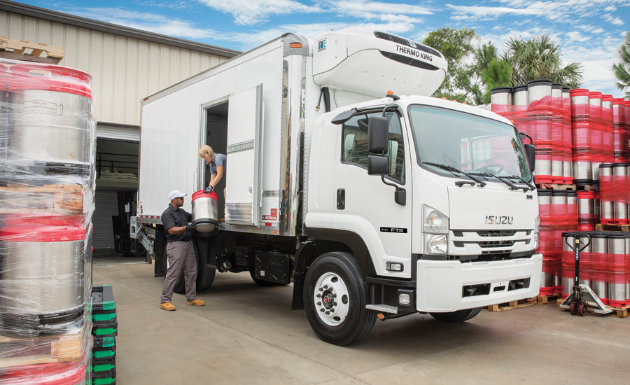 The Isuzu N-Series and F-Series low cab forward (LCF) vehicle. - Beverage Industry