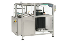 Roberts PolyPro, a product brand of ProMach, offers an automated can handle applicator for craft beer and spirits: the THA240. - Beverage Industry