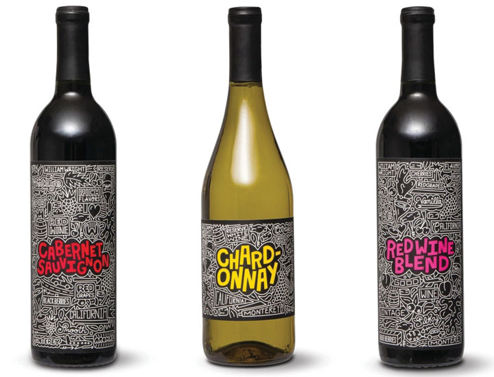 Aldi partnered with artist Timothy Goodman to create labels for a limited-edition reserve wine collection - Beverage Industry