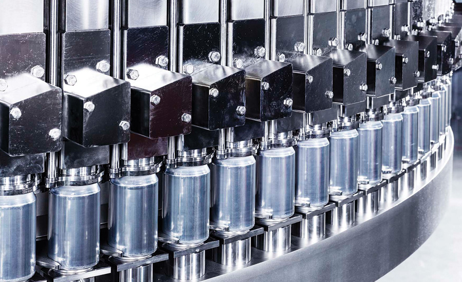 In November 2017, Sidel expanded its Sidel Matrix range of equipment with the introduction of the EvoFill Can, a can filler with the ability to fill more than 2,000 cans a minute. (Image courtesy of Sidel) - Beverage Industry