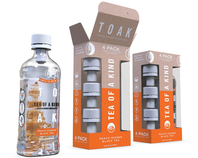 Tea of a Kind now offers Eco 4-Packs, consisting of one bottle of ready-to-drink tea and three Vessl refills - Beverage Industry