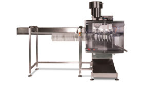 AlliedFlex Technologies Inc. offers the new FLX MonoSpout pouch filling and capping machine for filling liquids in pre-made spouted standup pouches. - Beverage Industry