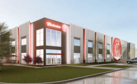 Rendering of 7G Distributing's new office and warehouse - Beverage Industry