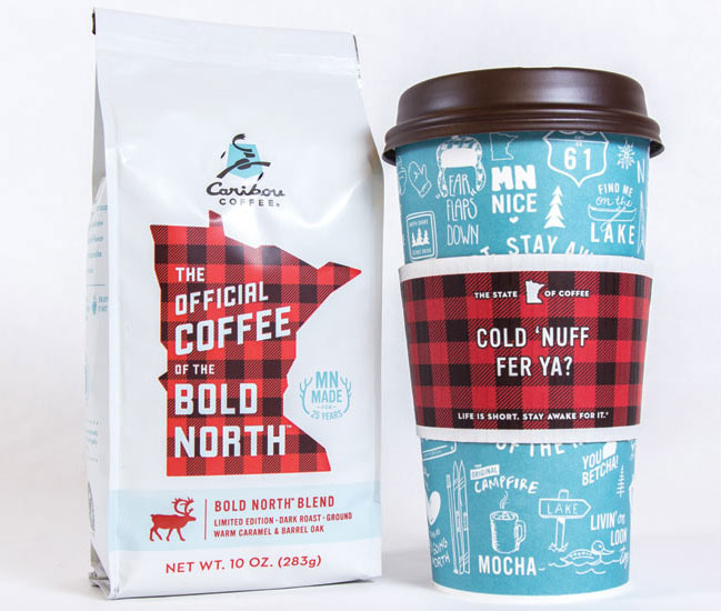 Caribou Coffee reinvented its signature coffee cup with the theme The Best of the North.