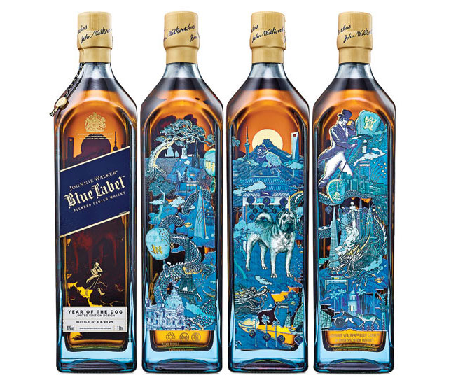 Johnnie Walker released limited-edition Johnnie Walker Blue Label Year of the Dog packaging.
