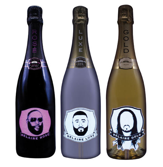 Luc Belair released limited-edition packaging featuring celebrity ambassadors for its Fantôme range of sparkling wines.