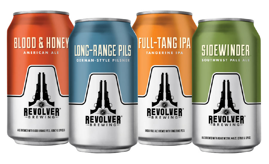 Revolver Brewing introduced four of its signature beers in cans for the first time.