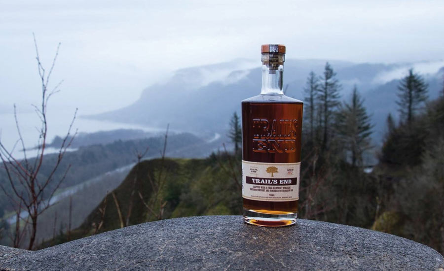 In a program with the National Forest Foundation, Hood River Distillers will donate 50 cents for every bottle of Trail's End Straight Bourbon Whiskey sold during 2018 - Beverage Industry