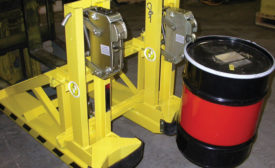 Liftomatic Material Handling Inc. introduced FTA drum-handling units designed for loading, unloading, palletizing and storage of steel drums in nearly any size or configuration - Beverage Industry