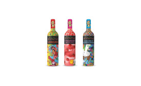 Friends Beverage Group of Miami launched new 750-ml graffiti-designed Friends Fun Wine bottles in New York City. - Beverage Industry