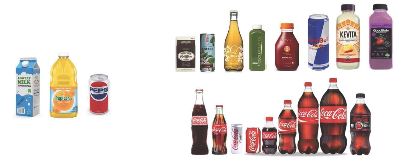 Various beverage bottles and cans for packaging considerations. - Beverage Industry