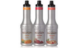 Launched in August, Monin Gourmet Flavorings released new veggie purée flavors in Carrot, Red Beet and Rhubarb. - Beverage Industry