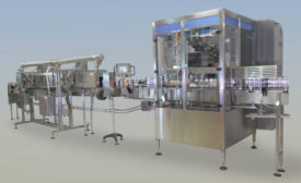 PDC International Corp. mandrel-style R-300 can labeler. - Beverage Industry