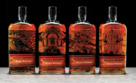 Bulleit Bourbon released its Bulleit Bourbon Tattoo Edition bottles, a series of four unique tattoo designs on the Bulleit bottle, the company says. - Beverage Industry