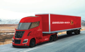 Anheuser-Busch Nikola Motor Co. truck. - Beverage Industry