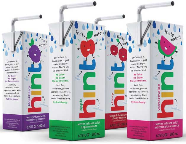 "Hint recently launched a new kids' lineup to end the ""age of sugar water,"" the company says. - Beverage Industry"