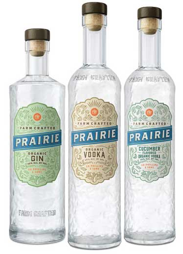 Prairie Organic Spirits revamped their bottle designs to showcase its commitment to the environment and crafting organically.. - Beverage Industry