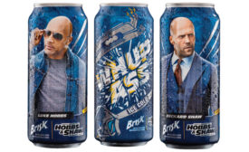 Brisk Iced Tea can with Hobbs and Shaw art.