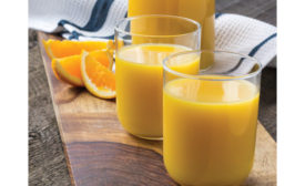 Orange juice with Vitamin C.