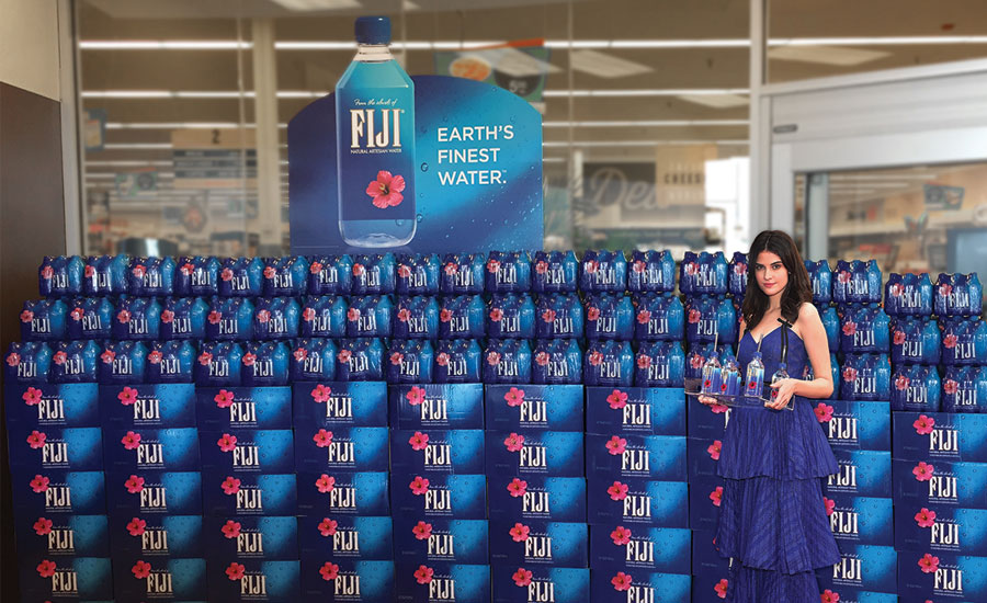 FIJI Water Girl at the 2019 Golden Globes. - Beverage Industry