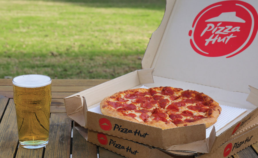 Pizza Hut announced the expansion of its category-first beer delivery program. - Beverage Industry