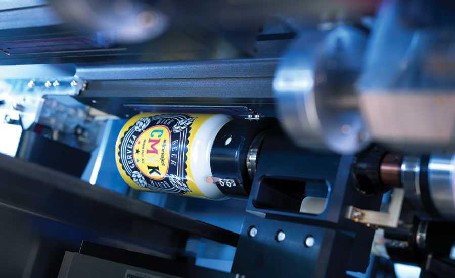 Digital direct-to-can printing. - Beverage Industry