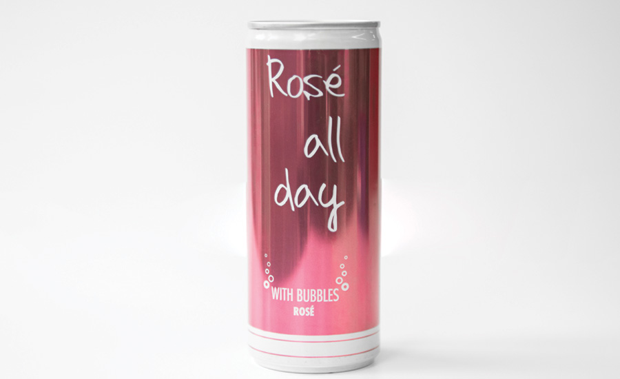 Rosé All Day Bubbly now in aluminum cans