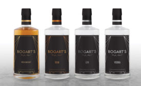 Bogart Spirits, a brand of ROK Drinks and Humphrey Bogart Estate, released new art deco-inspired labels for its range of gin, whiskey, vodka and rum products. - Beverage Industry