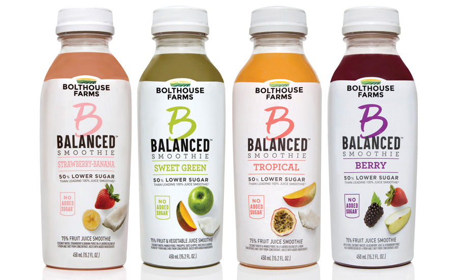 "The design of Bolthouse Farms' ""B"" line highlights it functional, lower sugar products. - Beverage Industry"