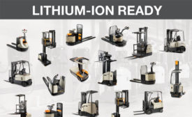Crown Equipment Corp. announced plans to unveil its new V-Force lithium-ion energy storage system (ESS) for forklift users. - Beverage Industry