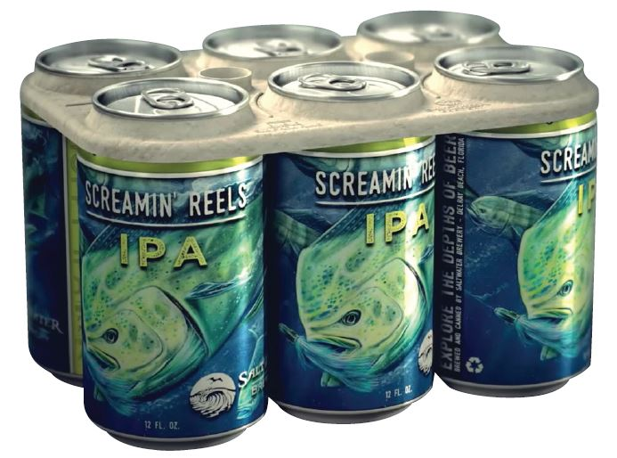 Embracing environmental stewardship, Saltwater Brewery created six-pack rings that biodegrade and feed wildlife. - Beverage Industry