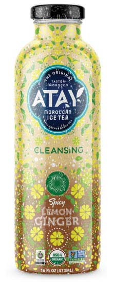 Atay Ice Tea features organic lemon and spicy ginger.