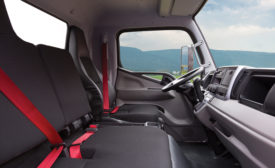 FUSO Fe gas model truck cabin interior.