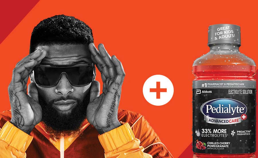 Pedialyte announced a new partnership with NFL star and Cleveland Browns wide receiver Odell Beckham Jr.