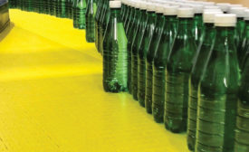 DuPont offers its new Delrin acetal homopolymer with advanced slip technology, which eliminates lubricants and reduces line cleaning to promote sustainable bottling operations, according to the company.