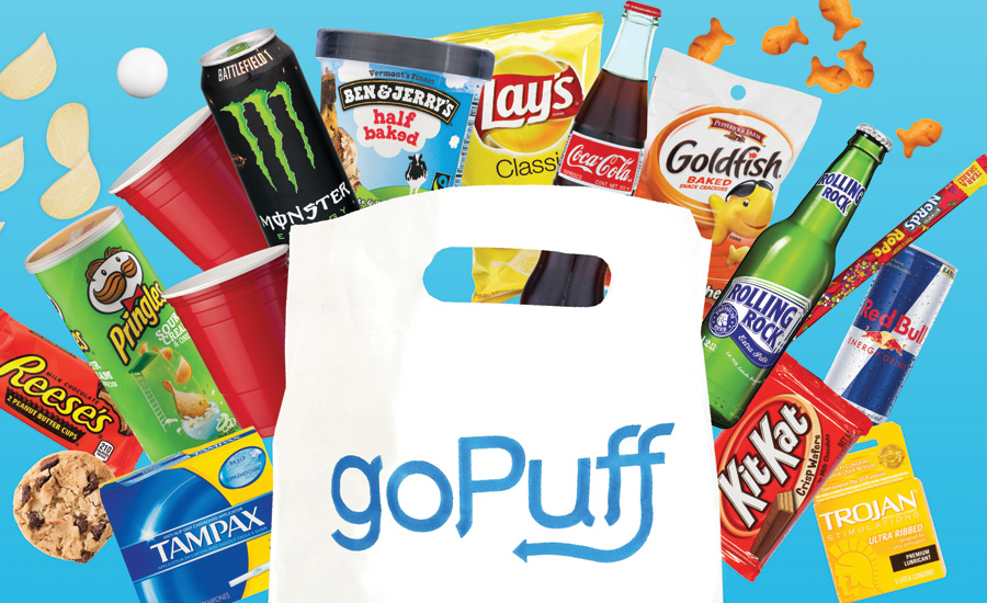 goPuff delivery app.
