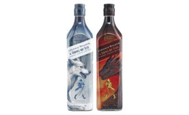 "In honor of the TV show ""Game of Thrones,"" Johnnie Walker released new, limited-edition Scotch whiskies in partnership with HBO Licensing & Retail: A Song of Ice and A Song of Fire."