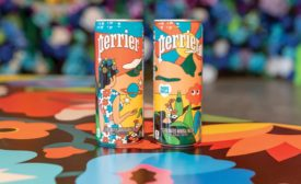 Perrier cans created by husband-and-wife duo DABSMYLA