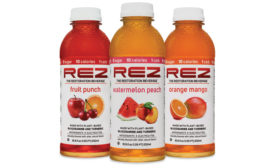 FutureCeuticals' REZ is a natural restoration beverage that features glucosamine, turmeric, antioxidants, electrolytes, and vitamins and minerals.