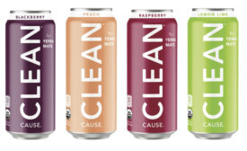 CLEAN Cause sparkling, low-sugar, organic caffeine from yerba mate
