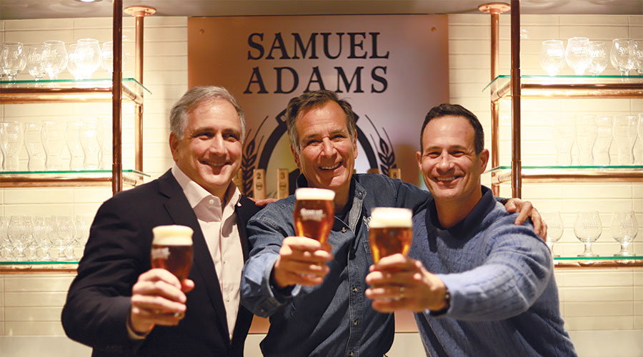 Dave Burwick, Jim Koch and Sam Calagione