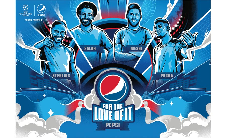 Pepsi premiered its 2020 international football campaign