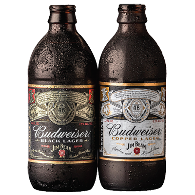 Budweiser Black Lager and Budweiser Cooper Lager