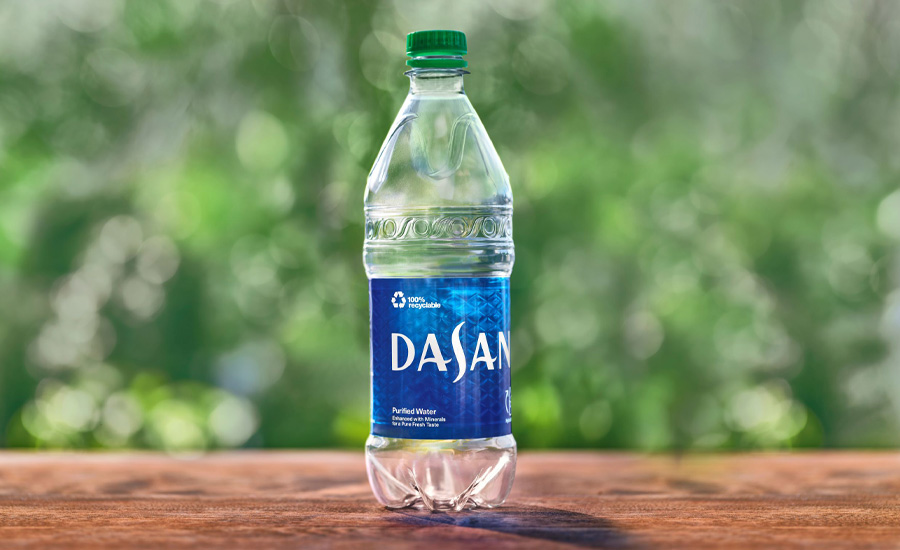 recycled content cap on DASANI water bottles