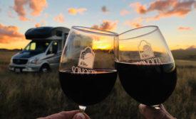 Harvest Hosts wine glasses