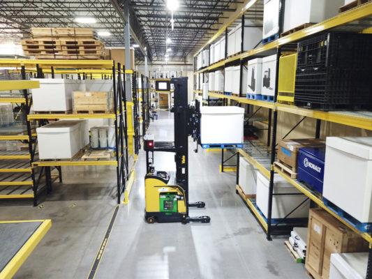 Yale robotic reach truck